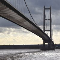 The Humber Bridge from the north bank | northolmefiley.com